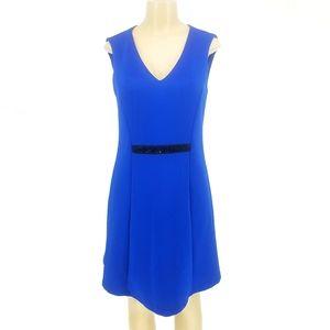 Andrew Marc NY Royal Blue V Neck Beaded Dress 10